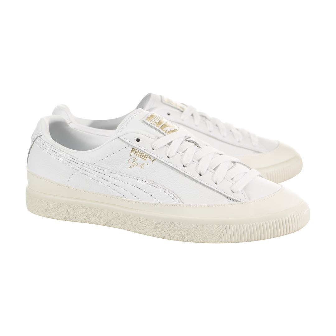 671651bd5fb Puma Clyde Rubber Toe Leather White