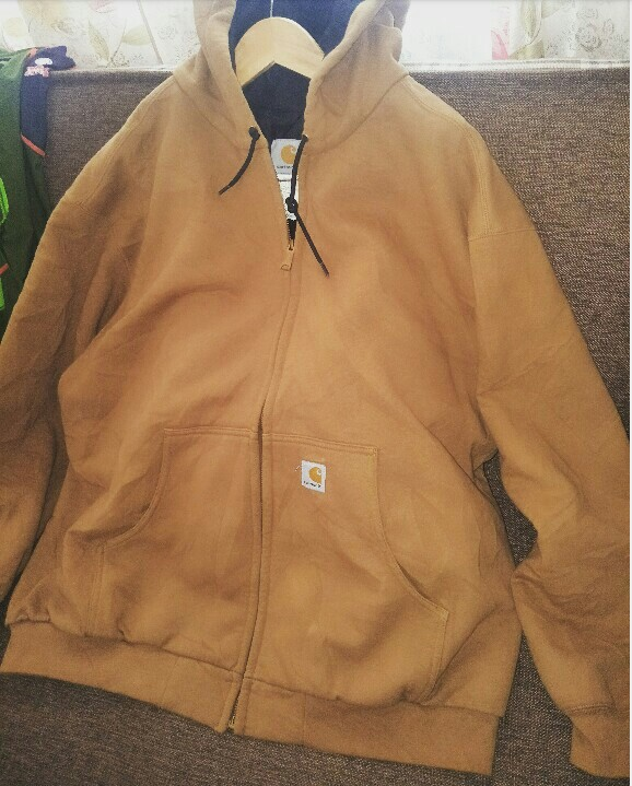 1f750966d2cb Rare vintage carhartt hoodie zipper jacket outdoor hiking