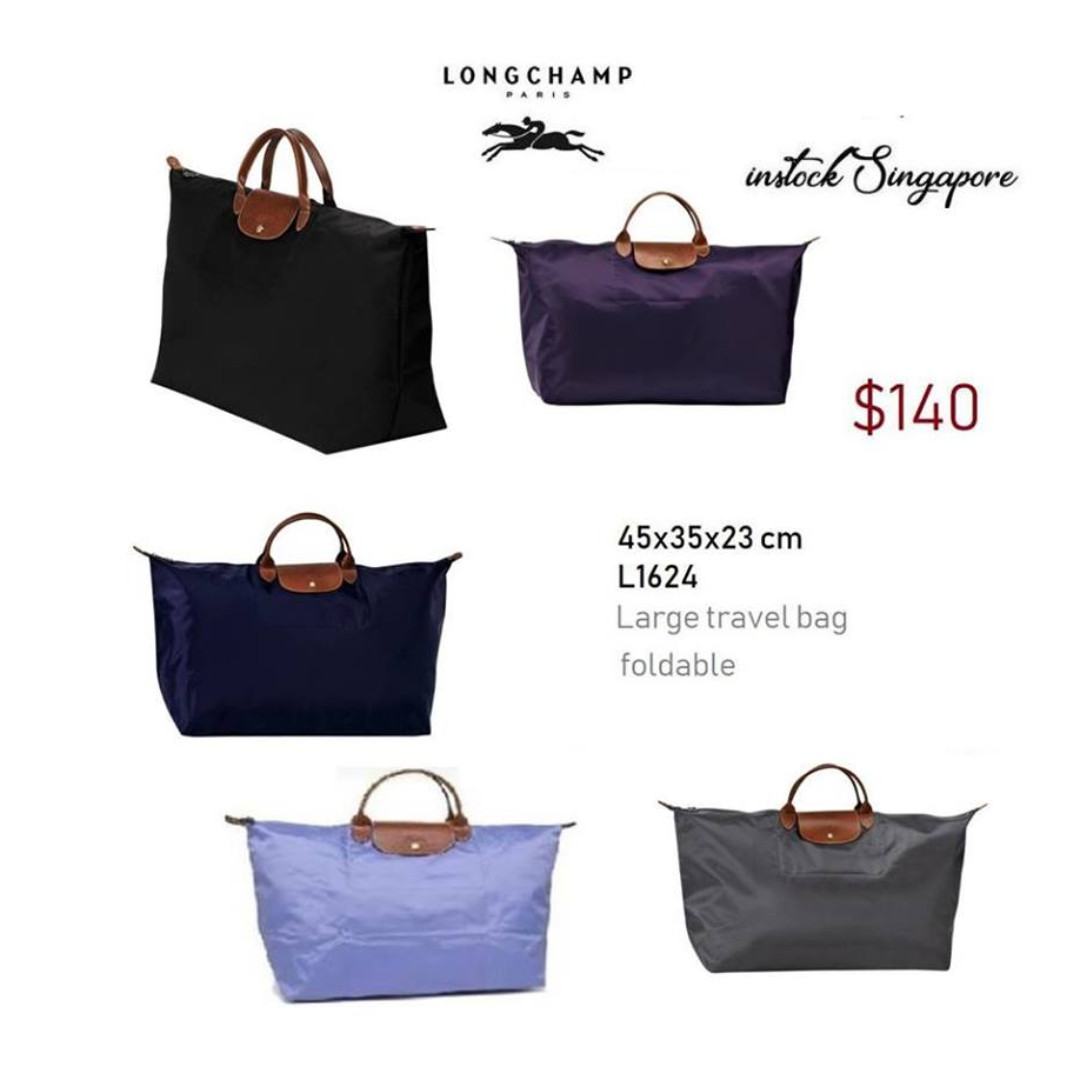 1bfd436cbc8f READY STOCK authentic new Longchamp LE PLIAGE foldable travel bag ...