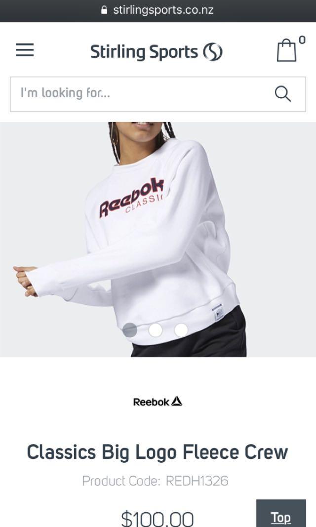 Rebook crew neck