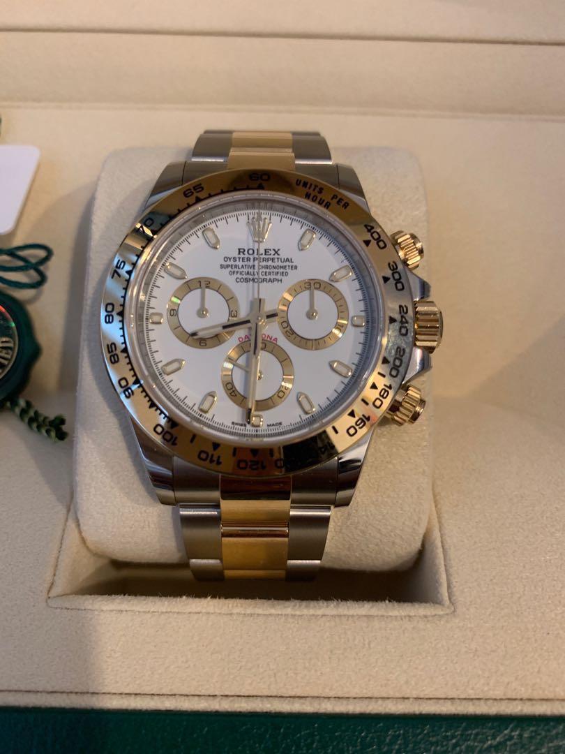Rolex Daytona Half Gold Luxury Watches On Carousell