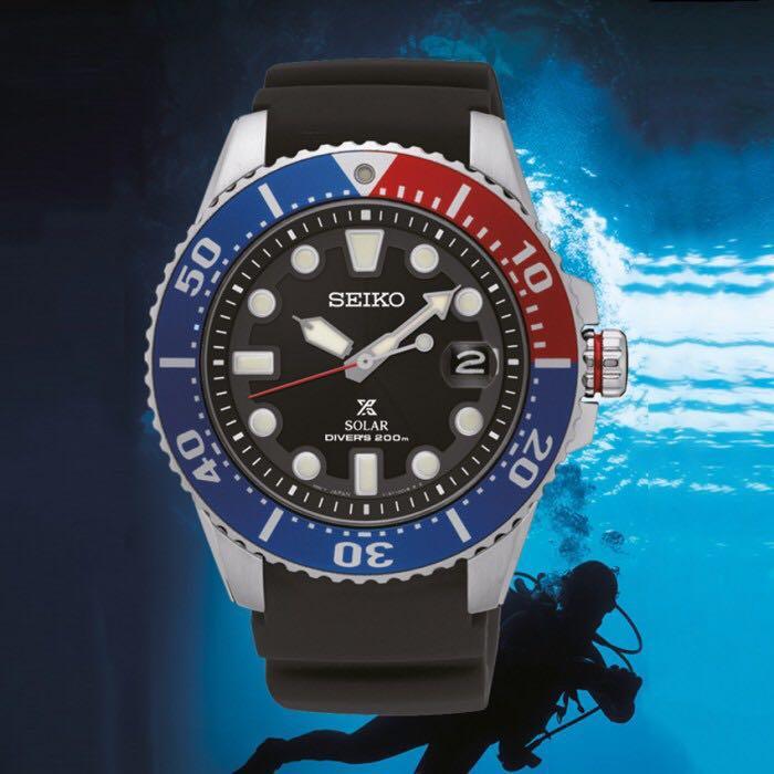 Seiko Solar Diver Prospex Pepsi SNE439P1