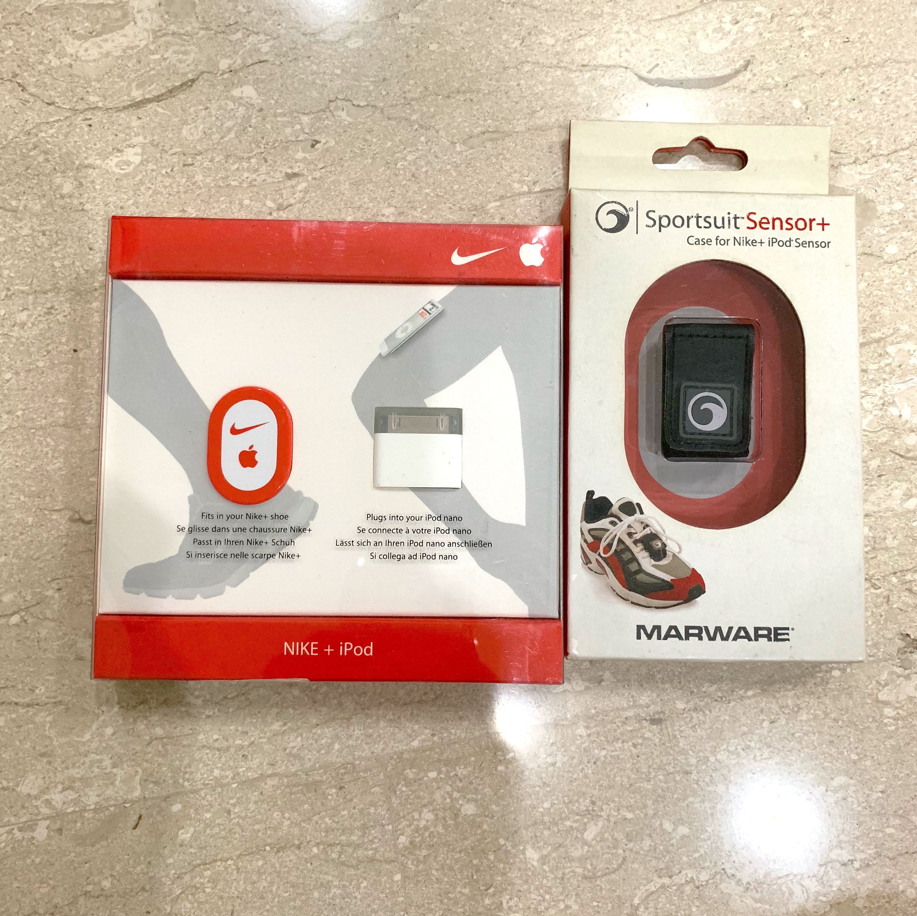 differently 9af90 879d8 Sport suit Sensor   Nike + iPod (with case) good for running, Music    Media, Music Accessories on Carousell