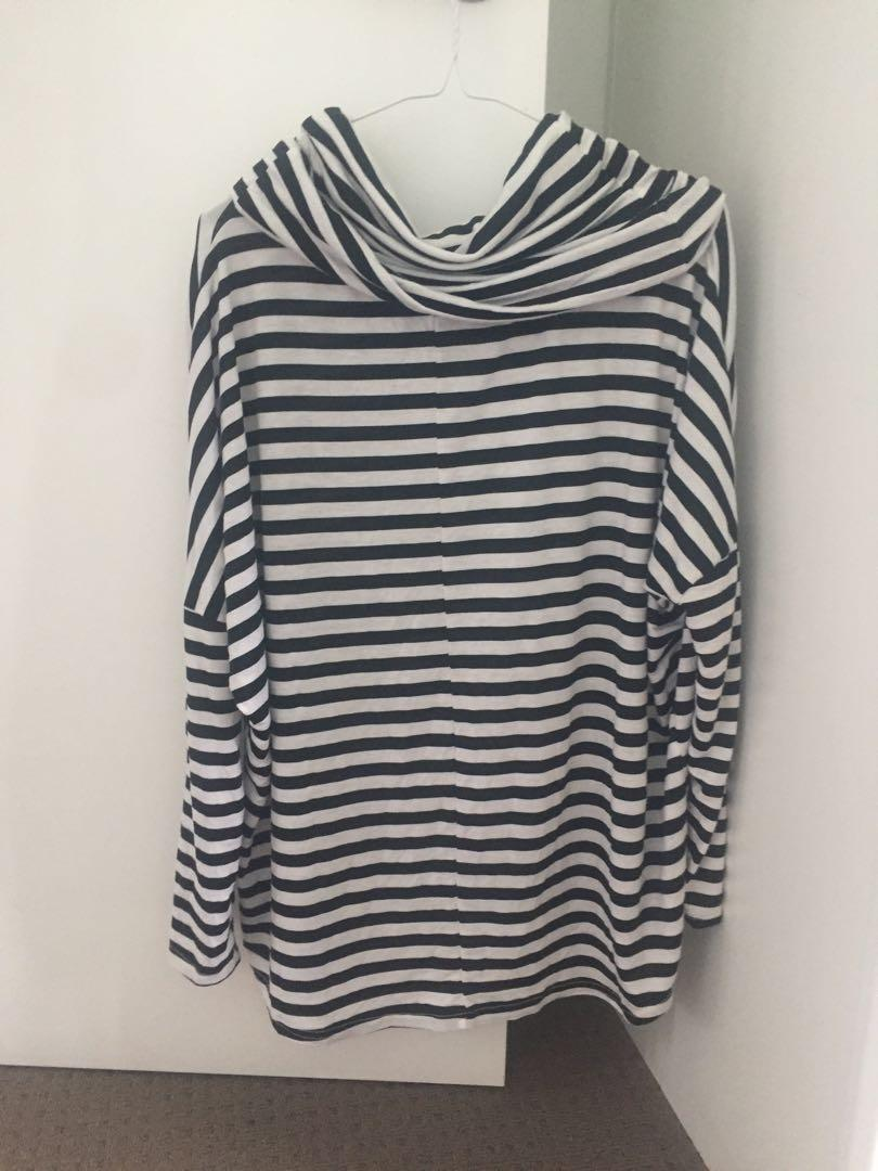 Striped turtle neck long sleeve top/jumper
