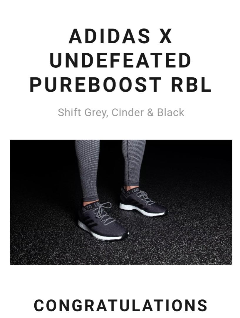 08fccc9ea273d3 UK10) Adidas x Undefeated Pureboost RBL