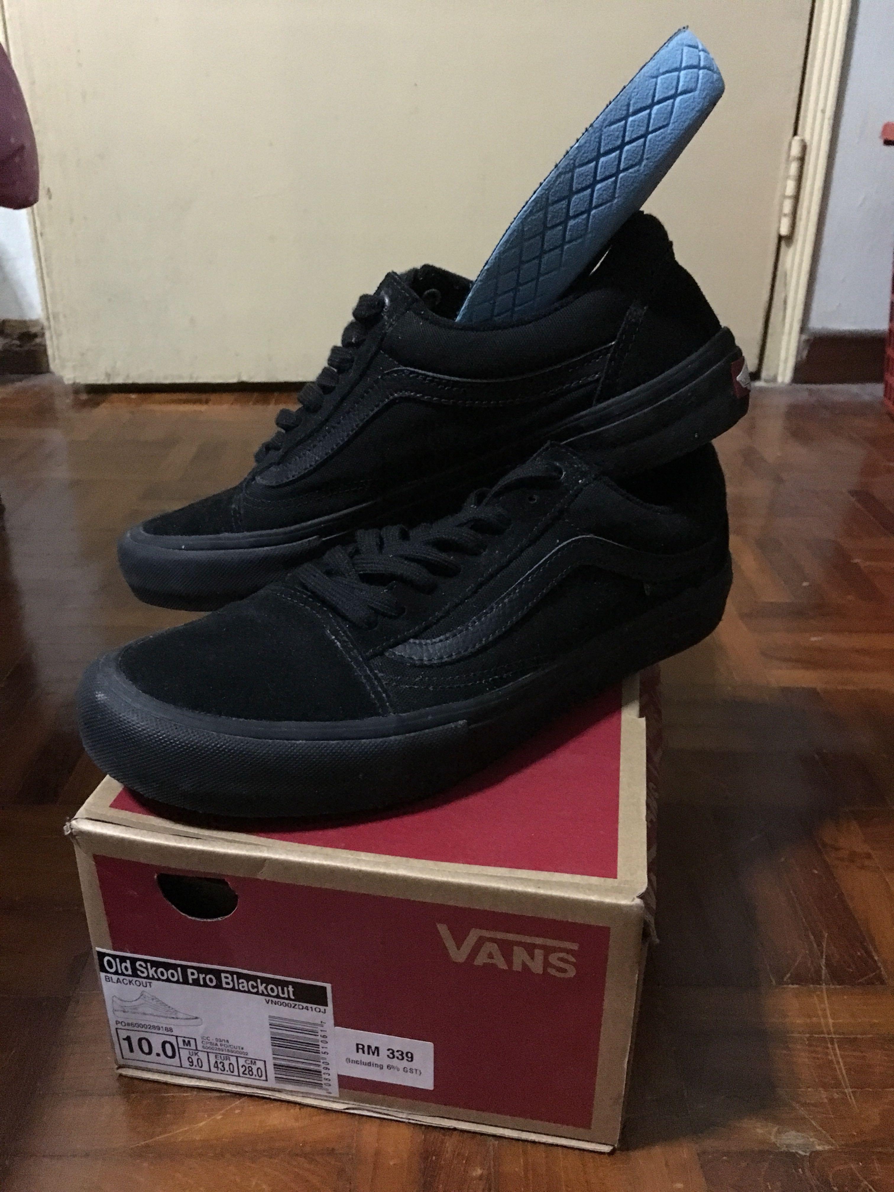 0688a1ce01 Vans Old Skool Pro Blackout