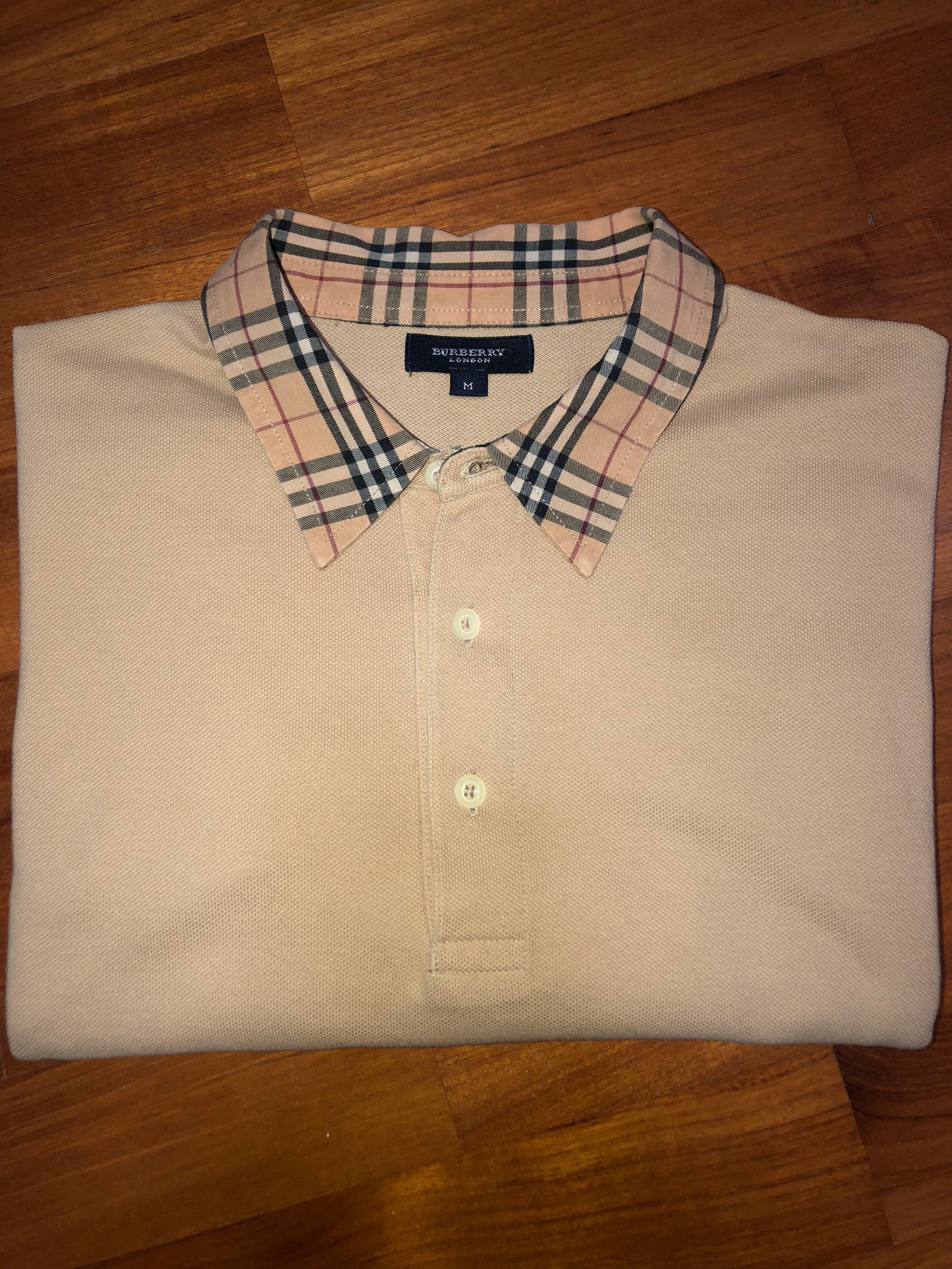b2987ea0 vintage burberry checked collar polo, Men's Fashion, Clothes, Tops on  Carousell