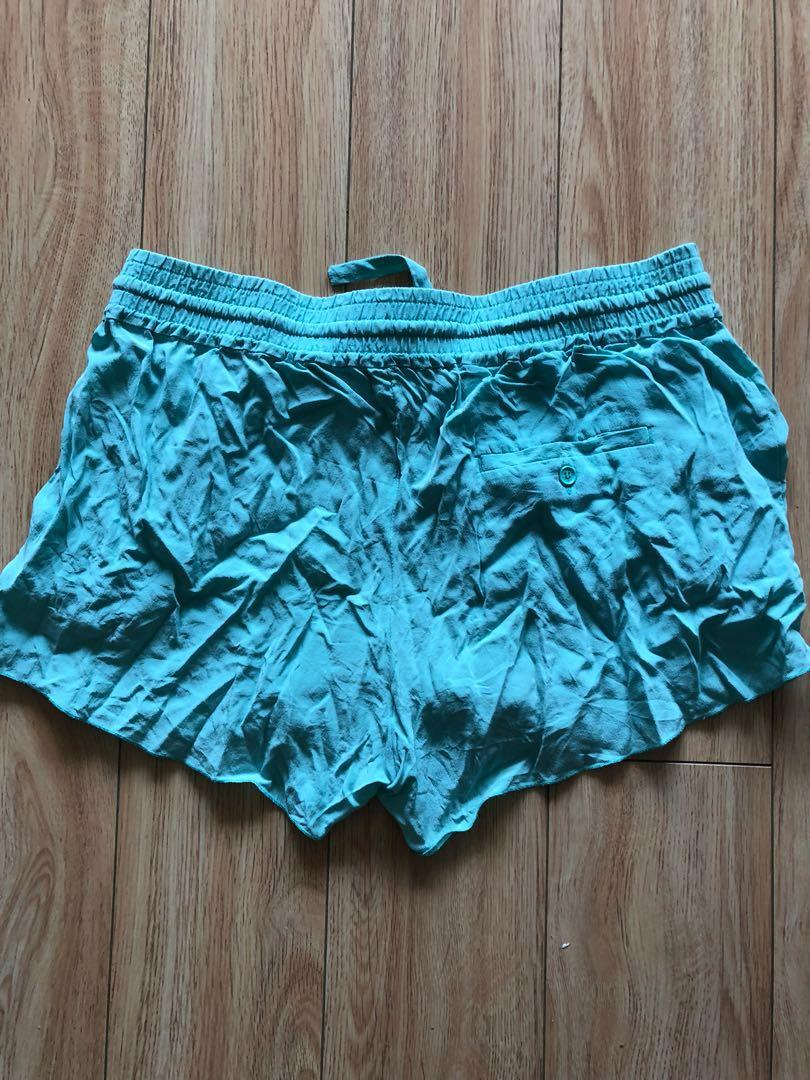 Wilfred 100%silk turquoise shorts