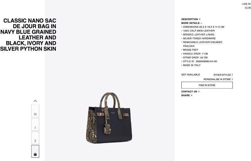 c9a6d0726fad Yves Saint Laurents Sac de jour Baby snakeskin BRAND NEW