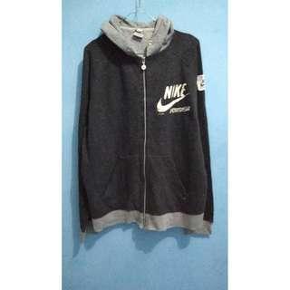 Nike Sportswear Grey Zipper Hoodie XL
