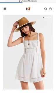 Urban outfitters straight neck lace tie strap dress