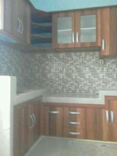 Lemari kitchen set dan bawah tangga