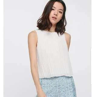 LB Toccara Pleated Top WHITE