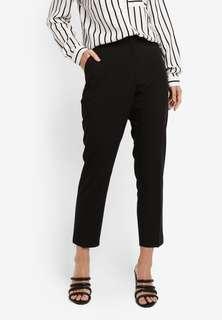 Dorothy Perkins - Black D-Ring Naples Trousers (Short Fit)