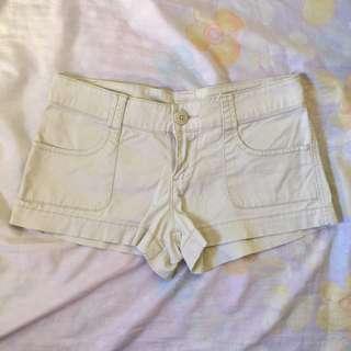 MOSSIMO Off White Cotton Shorts