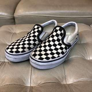 Used Vans Checkerboard Slip Ons US kids 13