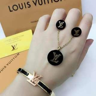 """""""SALE""""New! 3in1 LV. Necklace,Earring,Bangles"""