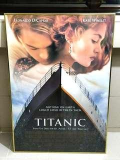 Titanic Movie Poster in Gold Aluminum Frame