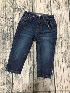 🚚 H&M薄牛仔褲(6-9)
