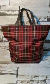 Burberry Original tote plaid bag