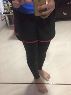Adidas pink short n tights