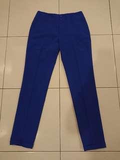 Flash Deal! Electric Blue Long Pants Size S
