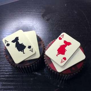 愛麗絲造型cupcakes 盒 alice