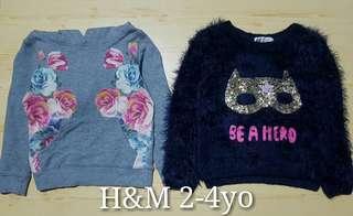H&M kids sweaters 2-4T