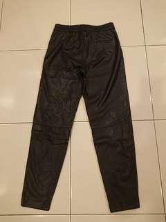 Flash Deal! Black Faux Leather Long Pants Size S