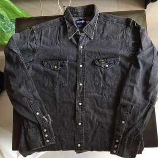 Wrangler Black Denim Shirt 牛仔褸 ( Levi's )