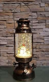 Vintage Christmas Snow Lantern