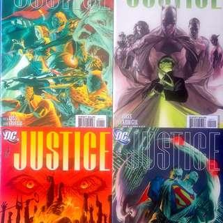 JUSTICE (2005) SET of 12 VF/NM issues