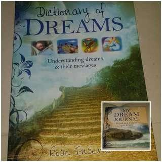 Dictionary of Dreams and My Dream Journal books as new