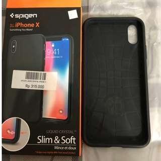 spigen liquid crystal black iphone x ori