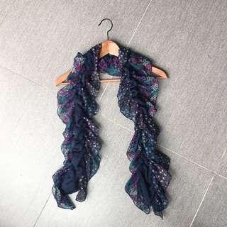 🚚 波浪式鬆緊圍巾