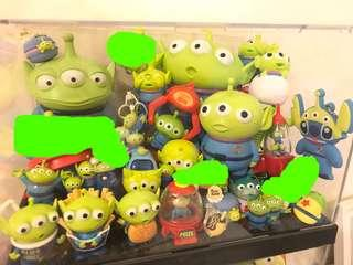 迪士尼 三眼仔 公仔 擺設 小擺件 disney toy story pixar alien aliens figure toy doll