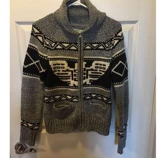 Zip up Knit Sweater