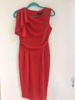 Red bodycon dress in small