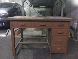 光復初 早期 大書桌  事務桌 原件 完整