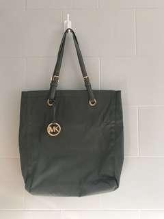 MICHAEL KORS Grey Button Snap Tote