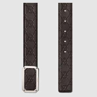 cf7c803004d Brown Gucci Signature leather belt