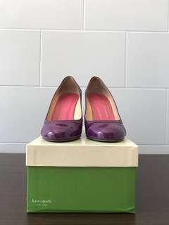 KATE SPADE Kelly Pumps Purple Patent Leather