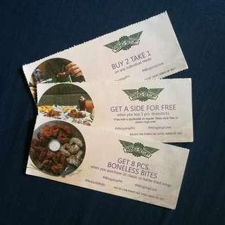 Buy 2 Take 1, Free Wingstop Voucher Take All