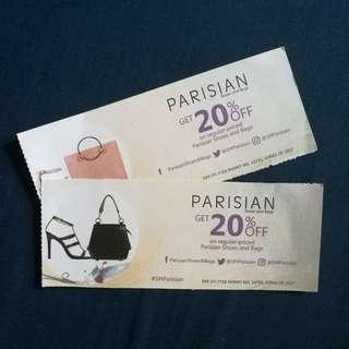 20% Off Parisian Voucher Take All