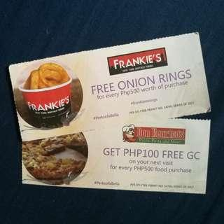 Don Henrico, Frankie's Food Voucher