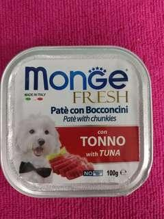 Monge Fresh Pate with Chunkies with Tuna 100g - 1 pack of 4 tins for $5