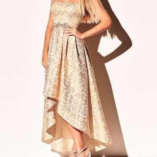 Melanie Lyne Formal Gold Dress