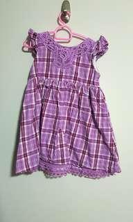 Pl Pumpkin patch purple checkered dress size 2