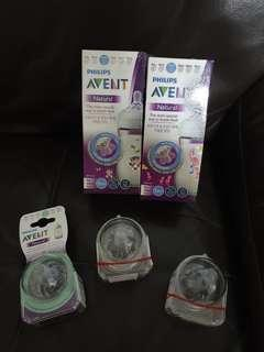 BN Philips Avent Natural Bottle and Teats