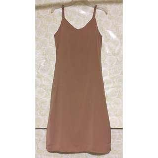 Nude Long Jumper Dress